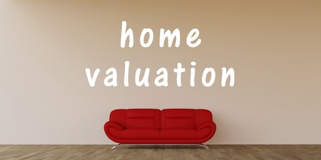 valuation: Home Valuation Concept with Home Interior Art Stock Photo