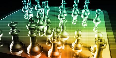 strategic management: Strategic Management and Business War Chess Concept