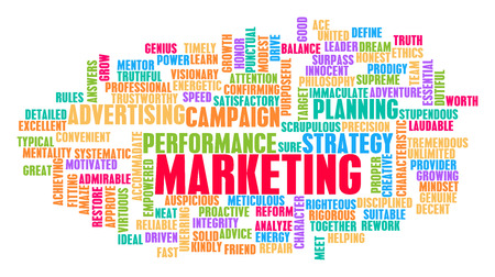 Marketing Word Cloud Concept on White Imagens