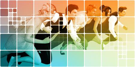 business team: Teamwork Concept as a Business Team Abstract