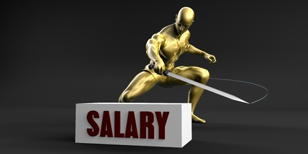 salary: Reduce Salary and Minimize Business Concept