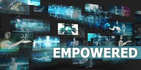 users video: Empowered Presentation Background with Technology Abstract Art Stock Photo