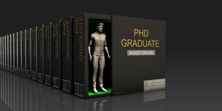 glut: PHD Graduate Endless Supply of Labor in Job Market Concept