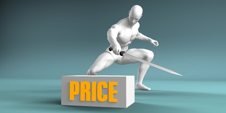 Cutting Price and Cut or Reduce Concept Stock Photo