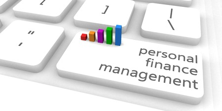 finance manager: Personal Finance Management or Manager as Concept Stock Photo