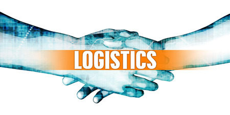 Logistics Concept with Businessmen Handshake on White Background