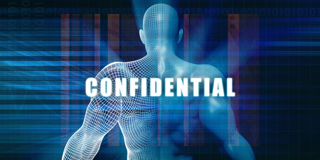 Confidential as a Futuristic Concept Abstract Background