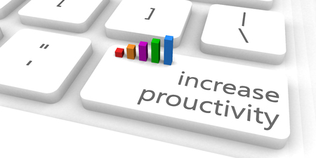 productivity: Increase Productivity as a Fast and Easy Website Concept