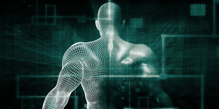 Human Implant Concept Technology as a Illustration Stockfoto