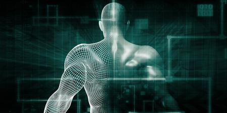 Human Implant Concept Technology as a Illustration Foto de archivo
