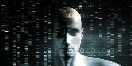 splice: Genetic Modification as a Science Concept Industry Art Stock Photo