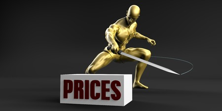 Reduce Prices and Minimize Business Concept