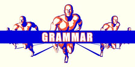 Grammar as a Competition Concept Illustration Art