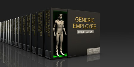 Generic Employee Endless Supply of Labor in Job Market Concept