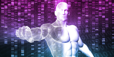 the latest models: DNA Chemistry Technology and Genome Sequencing Concept Stock Photo