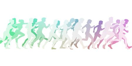 cardio: Cardio Training Exercise Group or Class Illustration