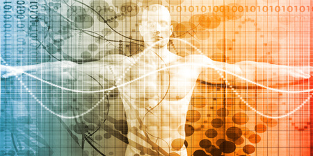 health technology: Digital Health System Software and Body Technology as Concept Stock Photo