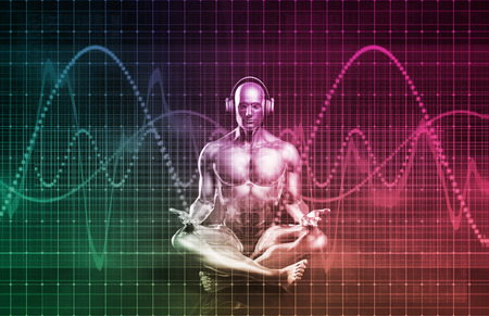 pulsing: Music Zen Concept with Sound Equalizer Art Stock Photo