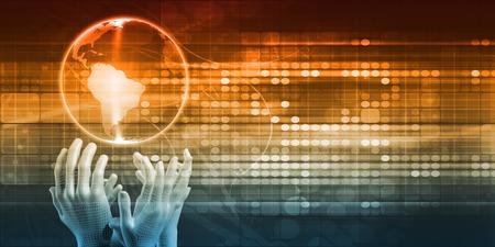 Futuristic Technology Concept as a Presentation Background