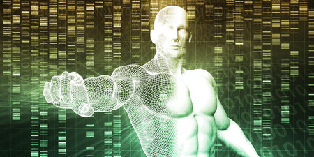 modifying: Genetic Modification as a Science Concept Industry Art Stock Photo