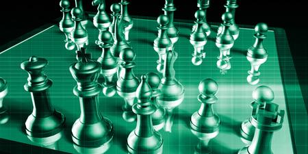 pensamiento estrategico: Visión de negocio y objetivos de la empresa como un concepto Foto de archivo