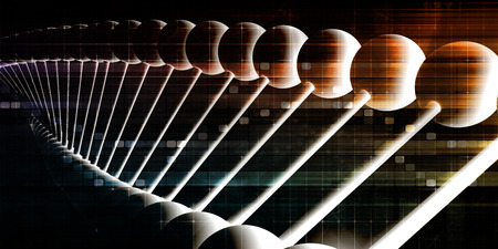DNA Helix Abstract Science Genetic Background Art Stock Photo