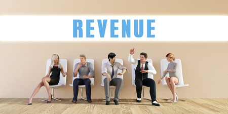 discussed: Business Revenue Being Discussed in a Group Meeting