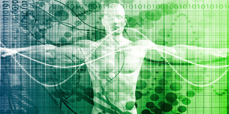 data management: Medical Review and Results Body Scan for Illness Stock Photo