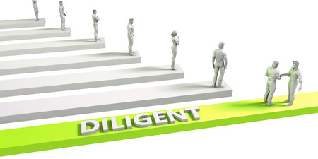 diligent: Diligent Mindset for a Successful Business Concept
