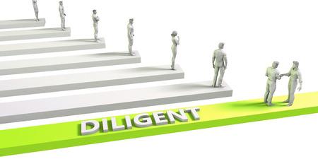 diligente: Mentalidad diligente para un concepto de negocio exitoso