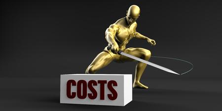 Lagere kosten en het beperken van bedrijfsrisico Concept Stockfoto
