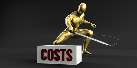 price cutting: Reduce Costs and Minimize Business Concept Stock Photo