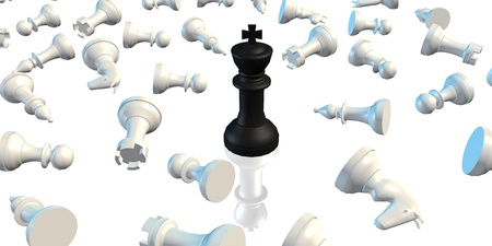 conquer adversity: Winner Concept of Chess King Beating the Rest of the Pieces