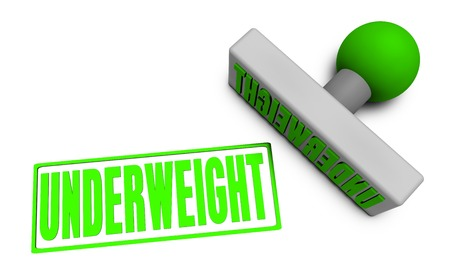 underweight: Underweight Stamp or Chop on Paper Concept in 3d
