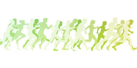 マラソンの白地図概念のバック グラウンドとして 写真素材