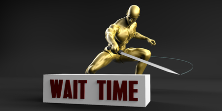 Reduce Wait Time and Minimize Business Concept