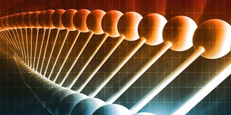 genomics: Genetic Code Sequence of DNA Protein Art