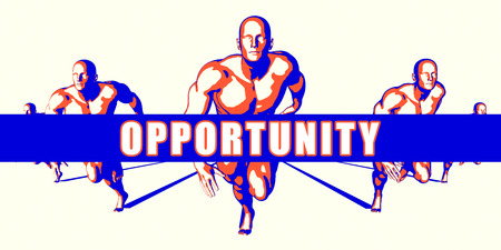 opportunity concept: Opportunity as a Competition Concept Illustration Art