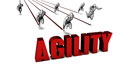 Better Agility with a Business Team Racing Concept Stock Photo