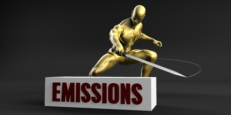 Reduce Emissions and Minimize Business Concept