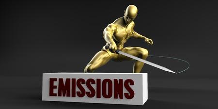 minimize: Reduce Emissions and Minimize Business Concept