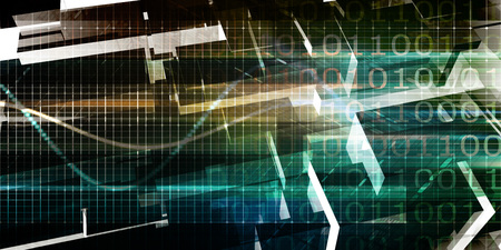 Digital Background with Technology Abstract Themed Abstract Stock Photo