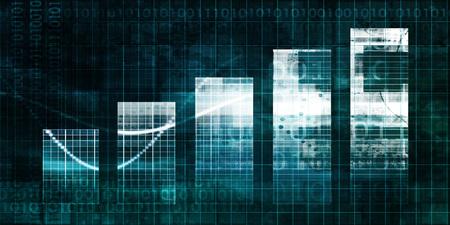 Staafdiagram Technologie Abstracte Achtergrond voor Presentatie