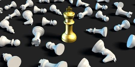 sacrificio: El último hombre de negocios Estrategia de ajedrez del concepto del asunto