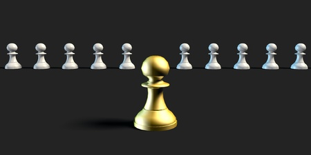 skillset: Effective Leader and Management Business Chess Strategy Concept Stock Photo