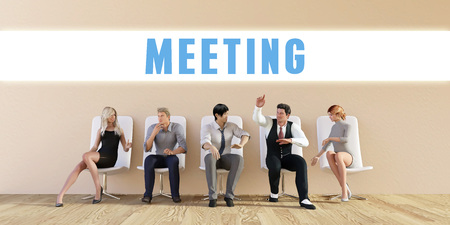 discussed: Business Meeting Being Discussed in a Group Meeting