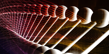 Molecules Background with DNA Genetic Helix Concept Art Stock Photo