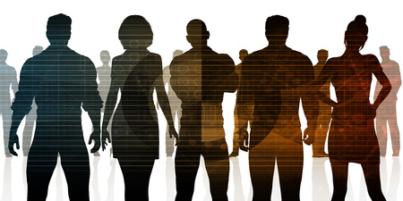 manpower: Business Team of Professionals Standing for Career Concept Stock Photo