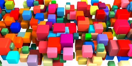 Colorful Cubes Background as a Geometric Abstract