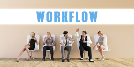 discussed: Business Workflow Being Discussed in a Group Meeting